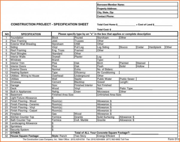 Home Construction Spreadsheet Intended For Construction Budget Spreadsheet Home Worksheet Template Word 3 Bud