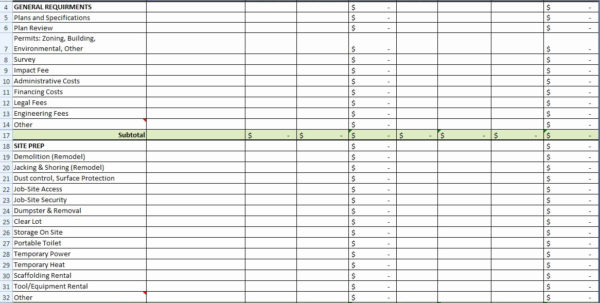 Home Construction Spreadsheet Within Home Construction Cost Spreadsheet – Theomega.ca