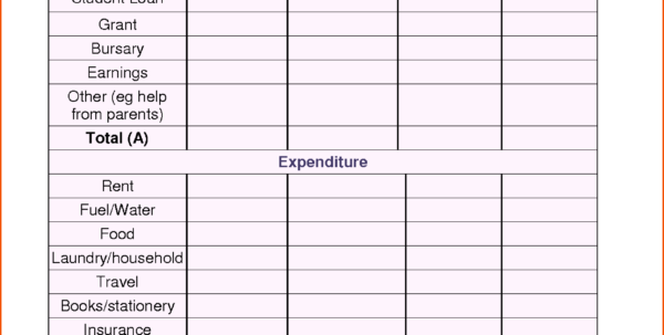Home Contents Insurance Calculator Spreadsheet With Regard To Budget Calculator Free Spreadsheet Online Household Sample