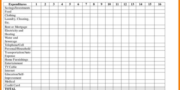 Home Expense Spreadsheet Template For Petrol Bill Template And Monthly Monthly Expense Spreadsheet Bill