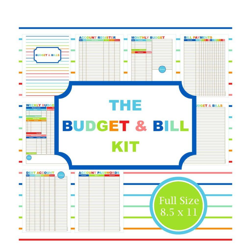 Home Finance Spreadsheet Throughout Home Finance Bill Organizer Template  Tagua Spreadsheet Sample
