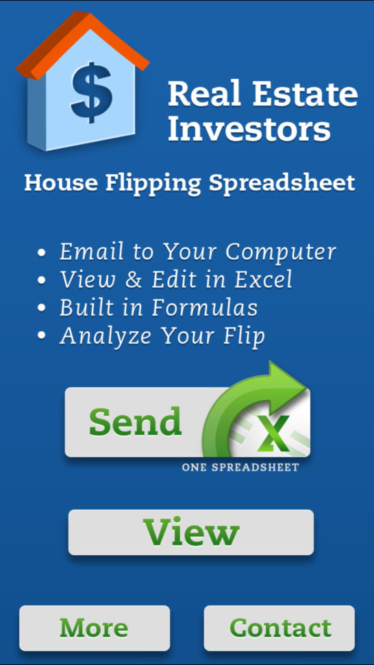 Home Flipping Spreadsheet With Regard To House Flipping Spreadsheet Real Estate Investors Aso Report And App