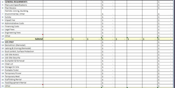 Home Improvement Spreadsheet Within Home Improvement Spreadsheet Template