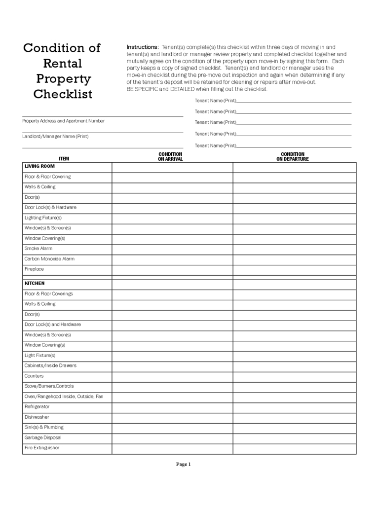 Home Inspection Checklist Spreadsheet In Form Templates Home Inspection Forms Condition Of Rental Property