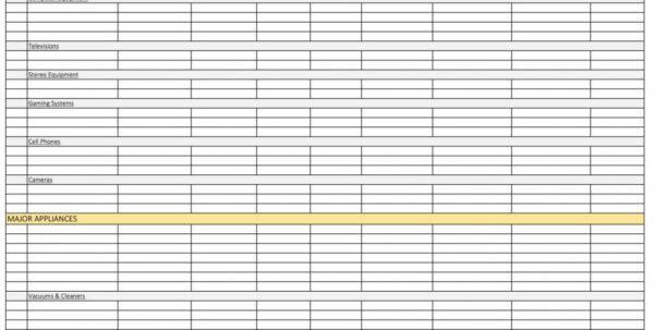 Home Inventory Spreadsheet With Regard To Creating A Home Inventory Spreadsheet Simply Caroline Blog