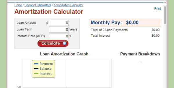 Home Mortgage Amortization Spreadsheet Throughout How To Calculate Amortization 9 Steps With Pictures Wikihow Home