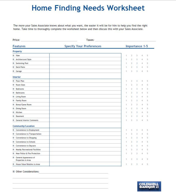 Home Ownership Costs Spreadsheet With Regard To Buyer Info
