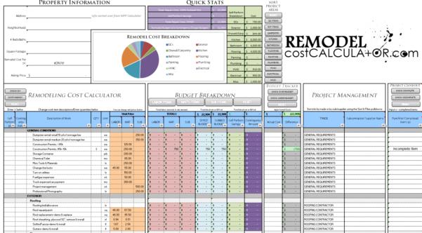 Home Renovation Planning Spreadsheet Regarding Home Improvement Spreadsheet Home Renovation Budget Spreadsheet