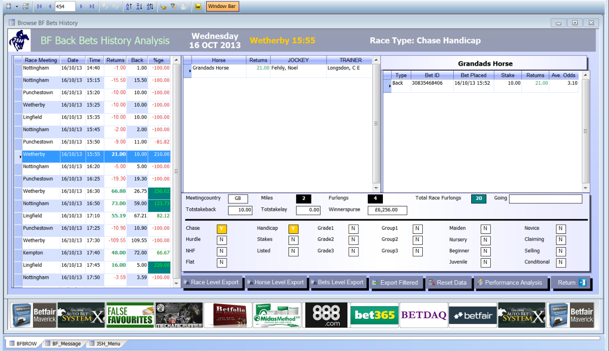 Horse Racing Analyser Spreadsheet Intended For Free Horse Racing Software Uk And Ire Information And Videos