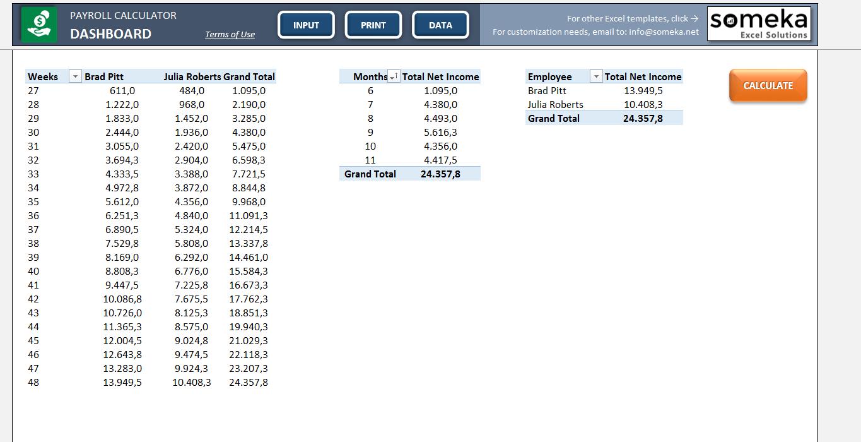Hourly Payroll Calculator Spreadsheet Pertaining To Payroll Clculator  Kasare.annafora.co