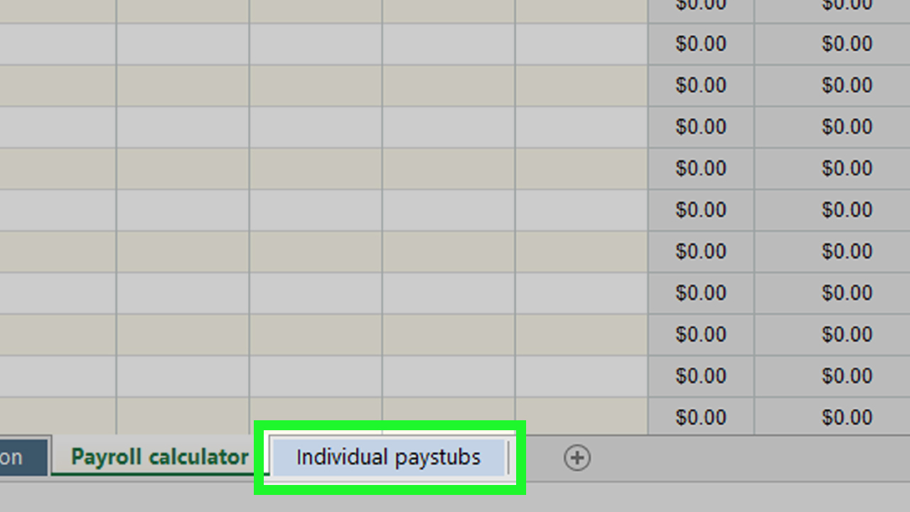 Hourly Payroll Calculator Spreadsheet Regarding How To Prepare Payroll In Excel With Pictures  Wikihow