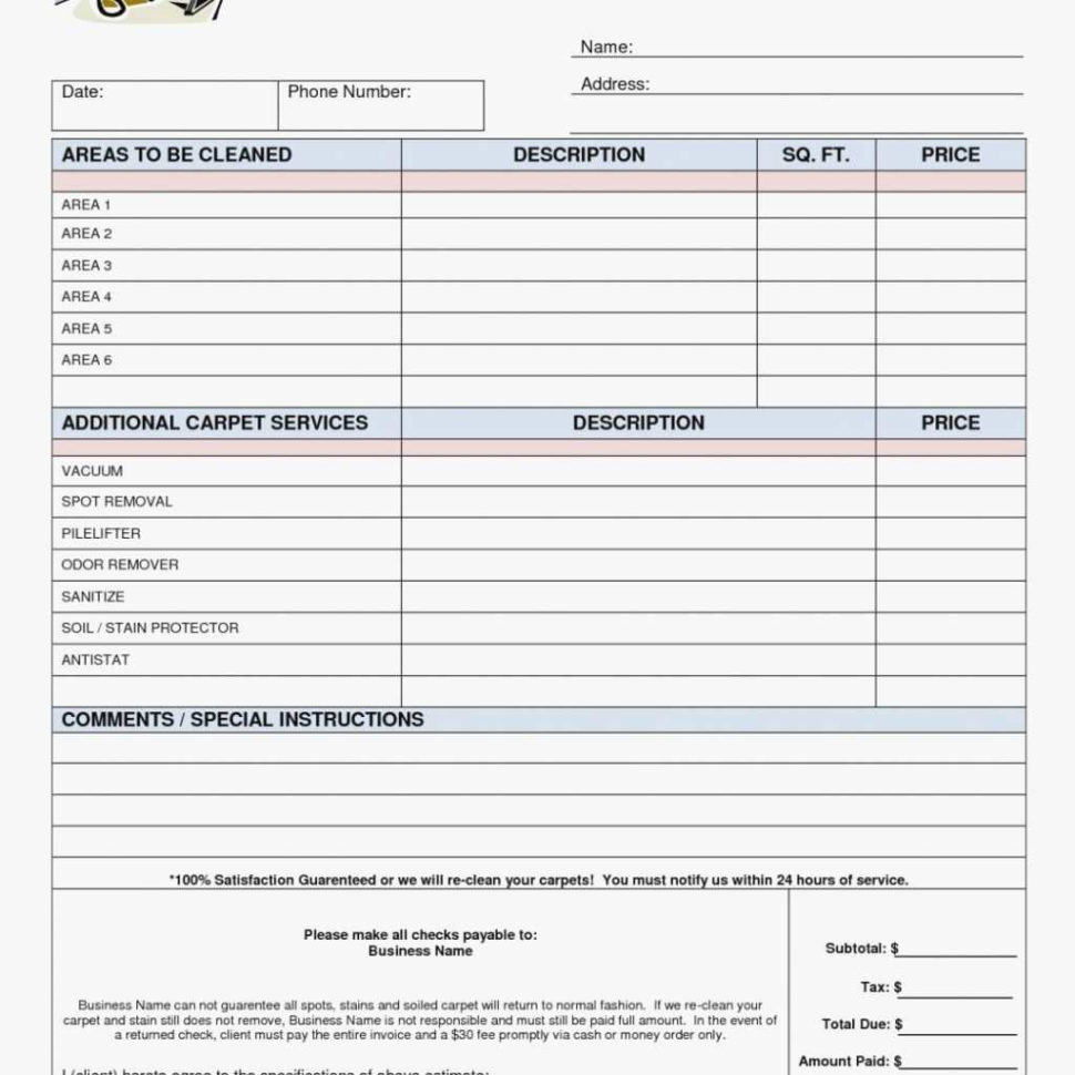 Hours Of Service Spreadsheet Within Lawn Care Estimate Template Quote Forms Free Service Printable