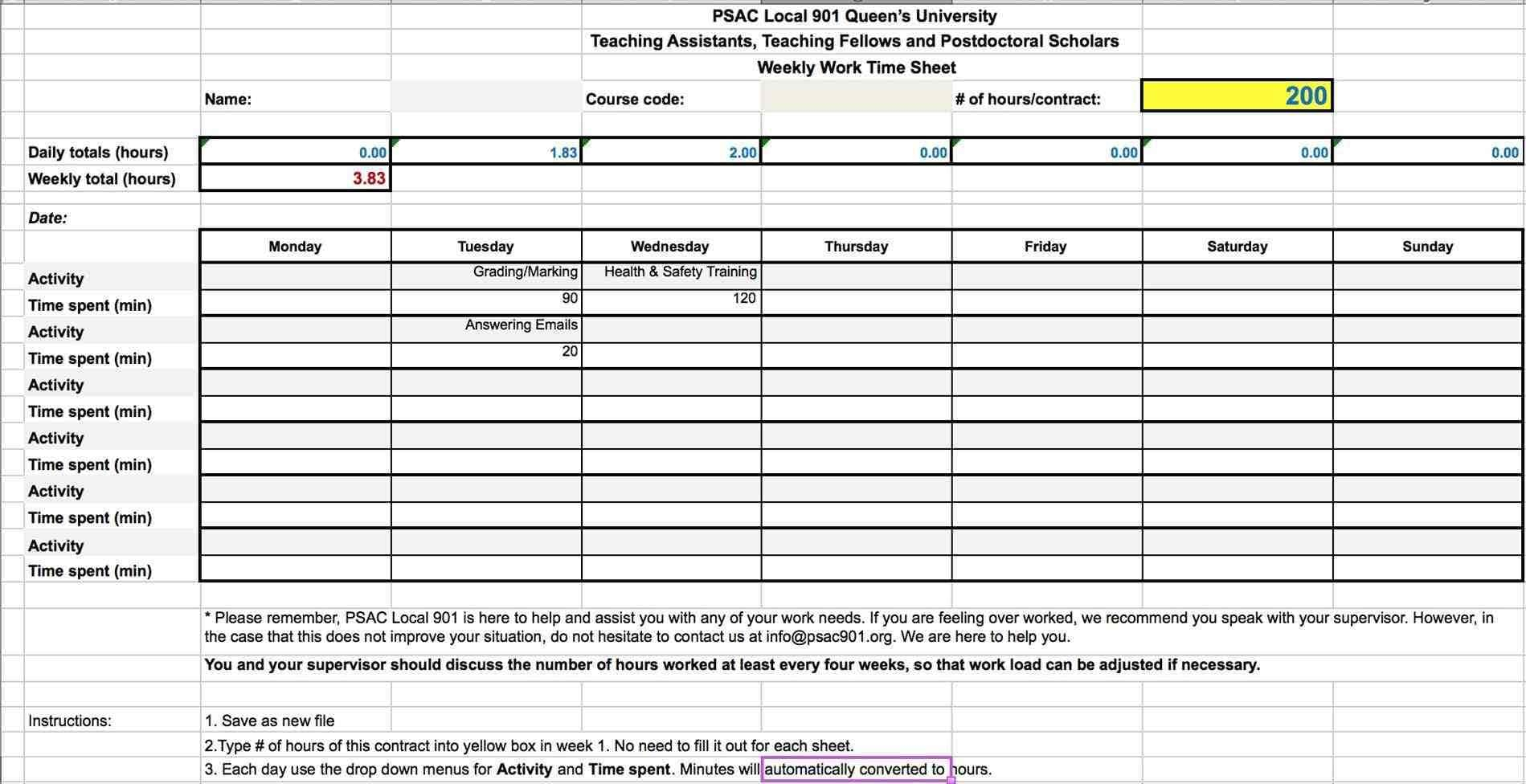 hours worked spreadsheet google spreadshee hours worked