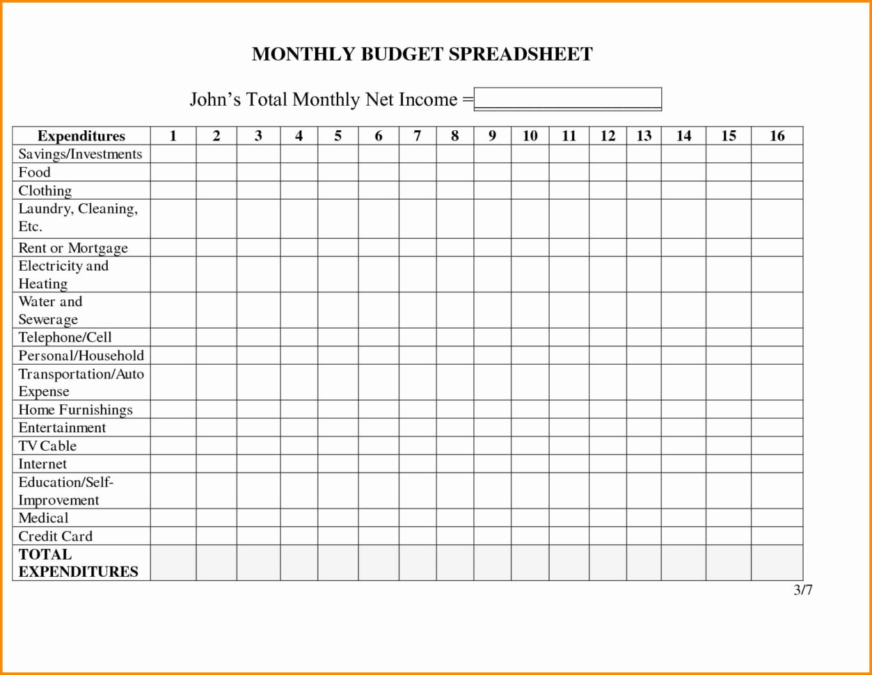 House Finances Spreadsheet Within Monthly Household Expenses Spreadsheet Unique Monthly Bud Excel