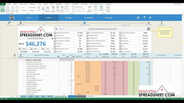 House Flip Spreadsheet Excel Pertaining To House Flip Spreadsheet How To Create An Excel Spreadsheet Excel