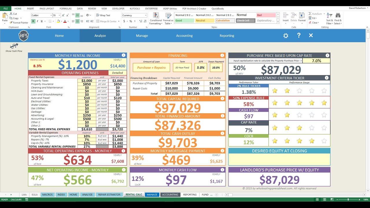 House Flip Spreadsheet Excel Regarding Real Estate Flip Spreadsheet As How To Create An Excel Spreadsheet