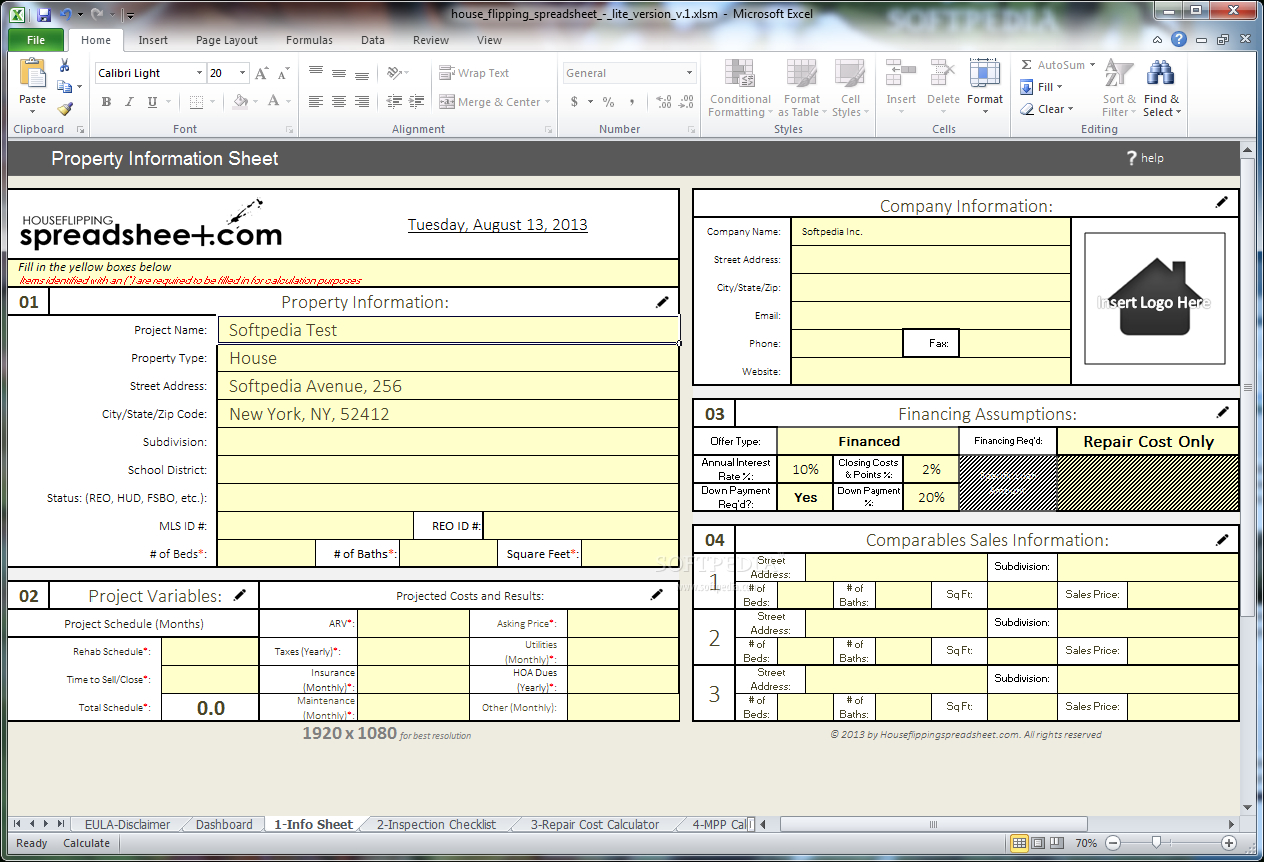 House Flip Spreadsheet Excel With Download House Flipping Spreadsheet 1