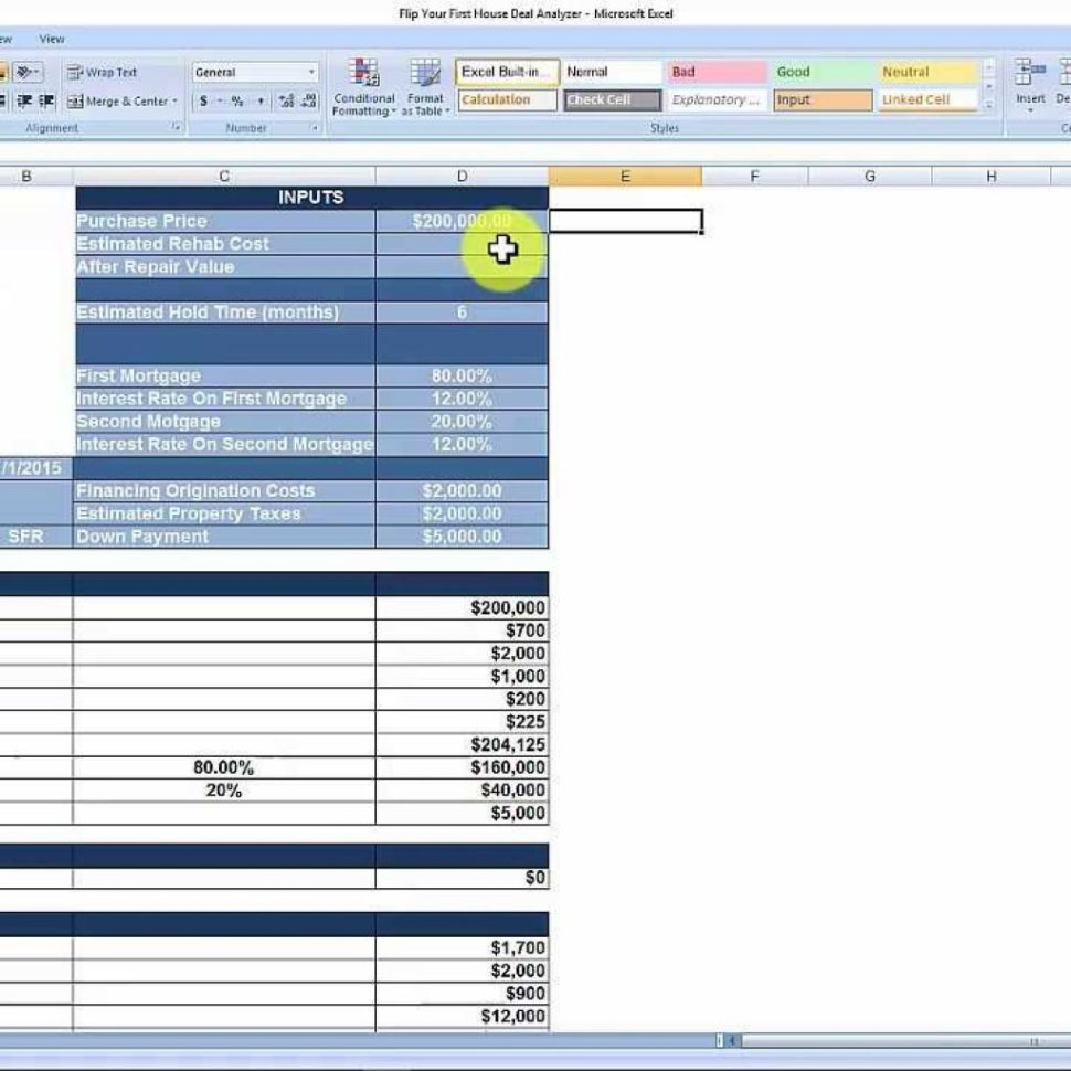 House Flipping Spreadsheet Free Download For House Flipping Spreadsheet  Free Download  Youtube With Regard To