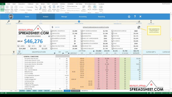House Flipping Spreadsheet Xls In Free House Flipping Spreadsheet Template Fresh House Flipping