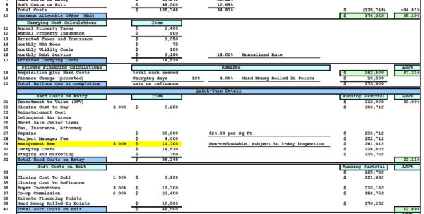 House Flipping Spreadsheet Xls Regarding House Flipping Spreadsheet Template  My Spreadsheet Templates