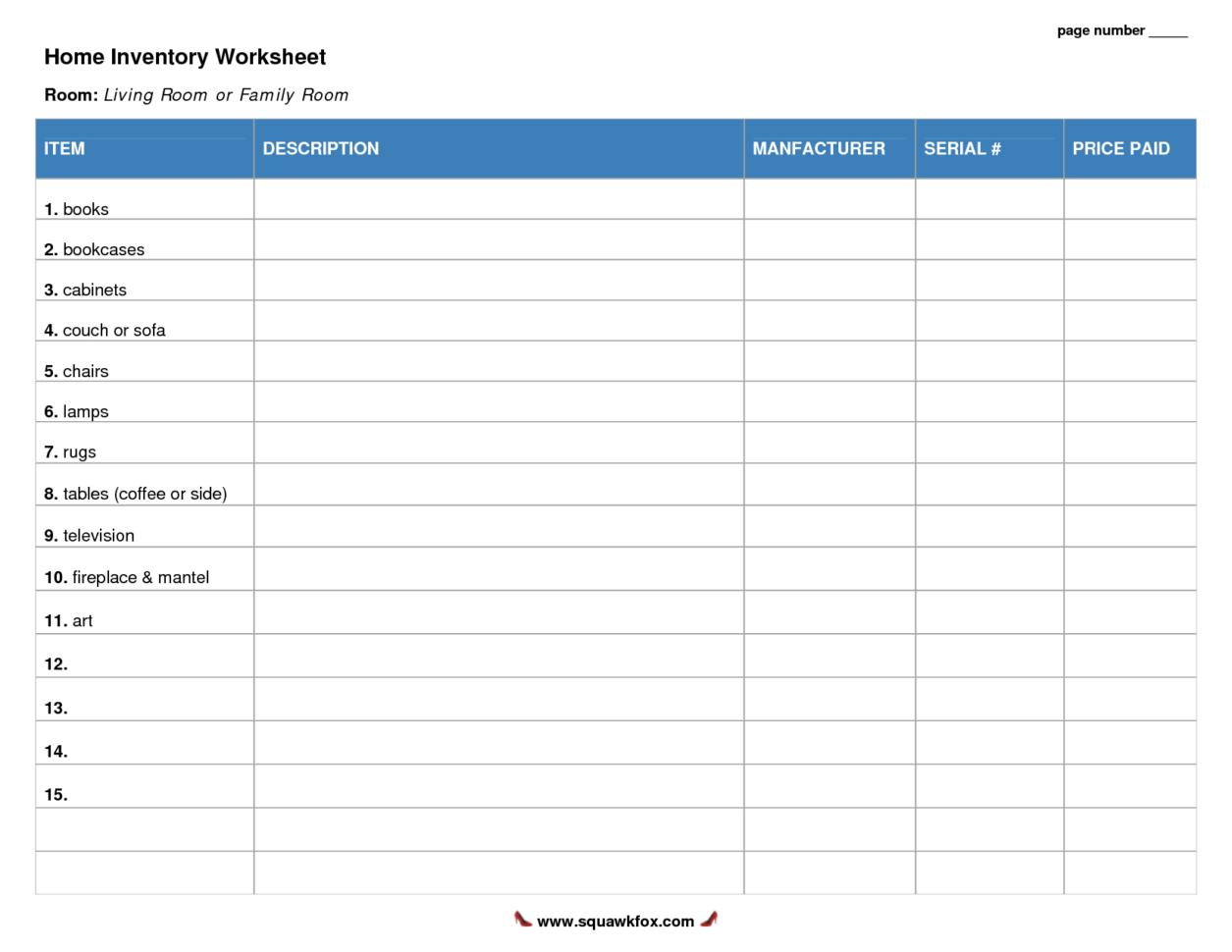 House Inventory Spreadsheet Regarding Household Inventory Spreadsheet  Tagua Spreadsheet Sample Collection