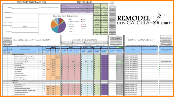House Refurbishment Budget Spreadsheet Throughout 6  Home Renovation Budget Spreadsheet Template  Credit Spreadsheet