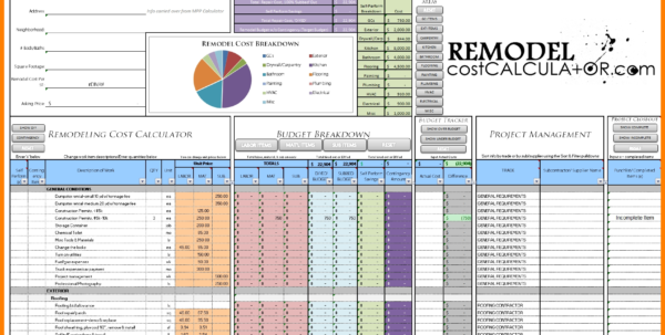 House Renovation Costs Spreadsheet With Regard To 6  Home Renovation Budget Spreadsheet Template  Credit Spreadsheet