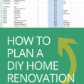 House Renovation Spreadsheet Pertaining To How To Plan A Diy Home Renovation   Budget Spreadsheet