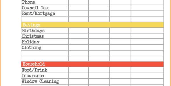 Household Bills Spreadsheet Uk Inside Home Budget Spreadsheet Free Best Free Home Bud Spreadsheet To Free