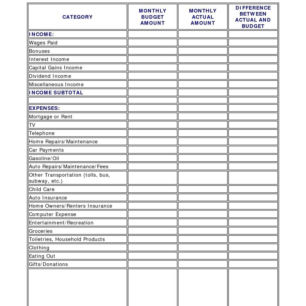 Household Bills Spreadsheet Uk With Regard To Household Budget Spreadsheet Template Uk Archives  Stalinsektionen