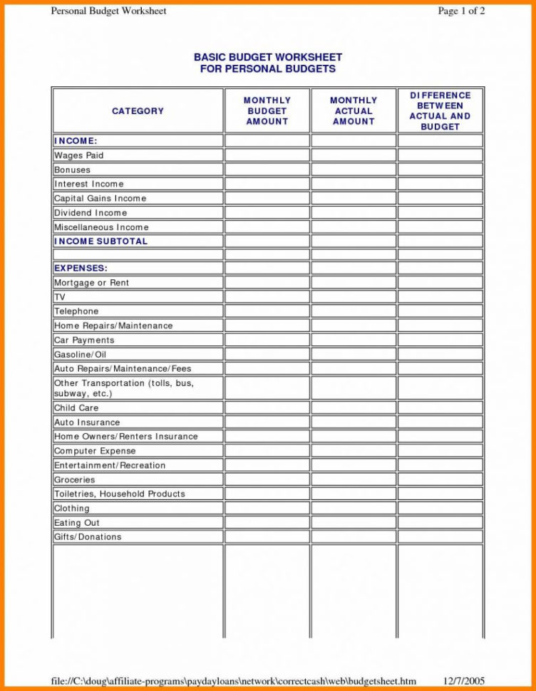 Household Budget Spreadsheet Excel Free For Household Budget Sheet Template Home Spreadsheet Free Monthly Excel