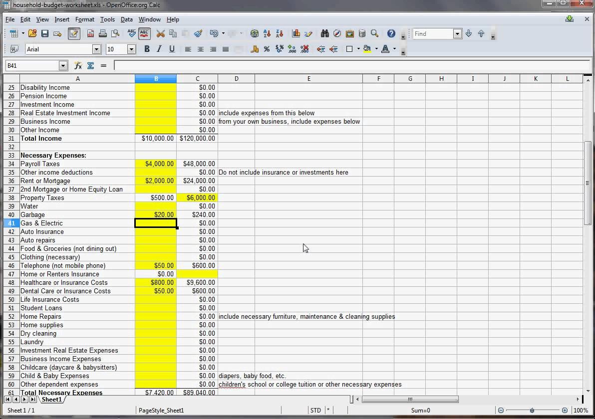 Household Budget Spreadsheet Excel Intended For Sample Home Budget Worksheet Fresh Spreadsheet Family Bud Excel