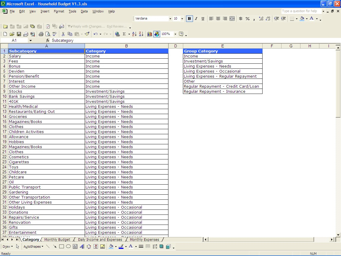 Household Budget Spreadsheet Excel Pertaining To Household Budget Spreadsheet Family Dave Ramsey Excel Templates Free