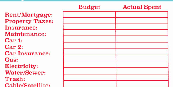 Household Budget Spreadsheet Excel Throughout Household Budget Templates In Excel Fresh Bud Spreadsheet Excel Free