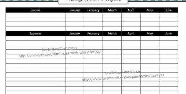 Household Budget Spreadsheet Inside Free Household Budget Spreadsheet And Best S Of Monthly Bud Bill