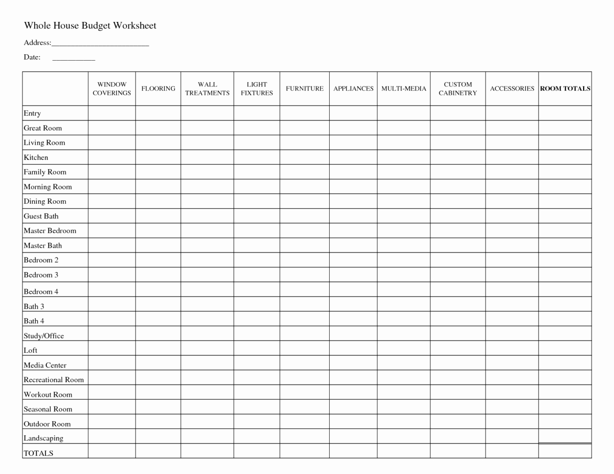 Household Budget Spreadsheet Template Free Intended For Free Home Budget Spreadsheet – Amandae.ca