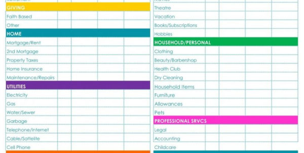 Household Budget Spreadsheet Template Free With Regard To Free Home Budget Planner Spreadsheet Downloadable Templates Excel
