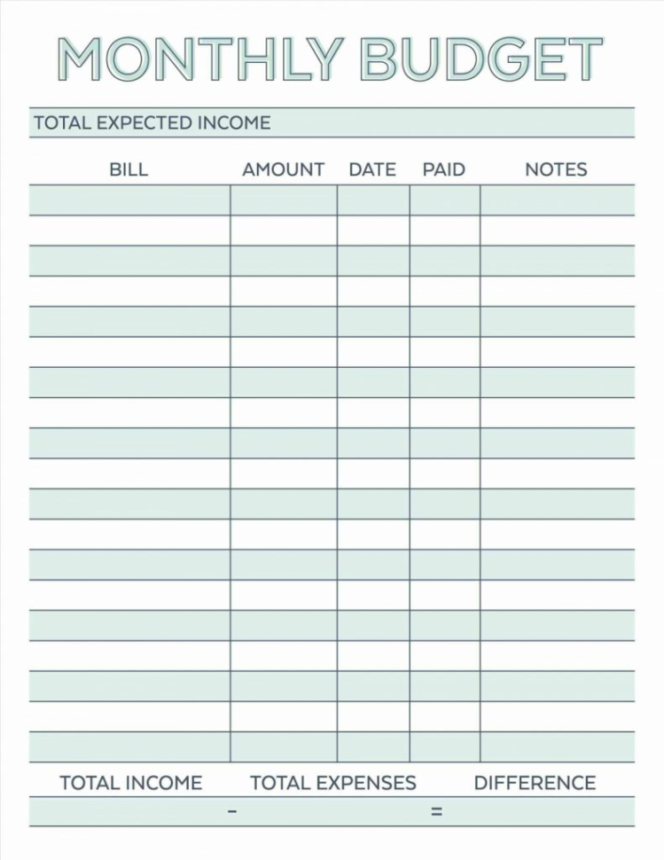 Household Budget Spreadsheet Template Free Within Best Free Home Budget Spreadsheet Worksheet Excel Planner Personal