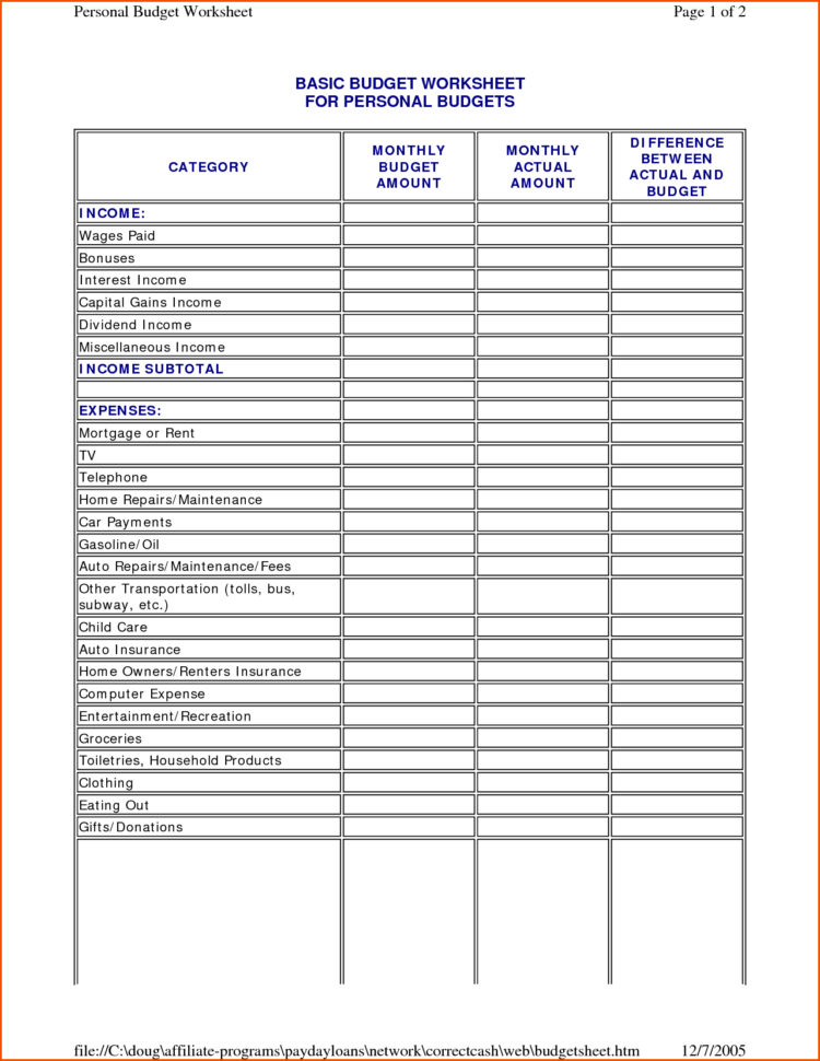 Household Budget Spreadsheet Template Throughout Home Budget Spreadsheet Template Free  Resourcesaver