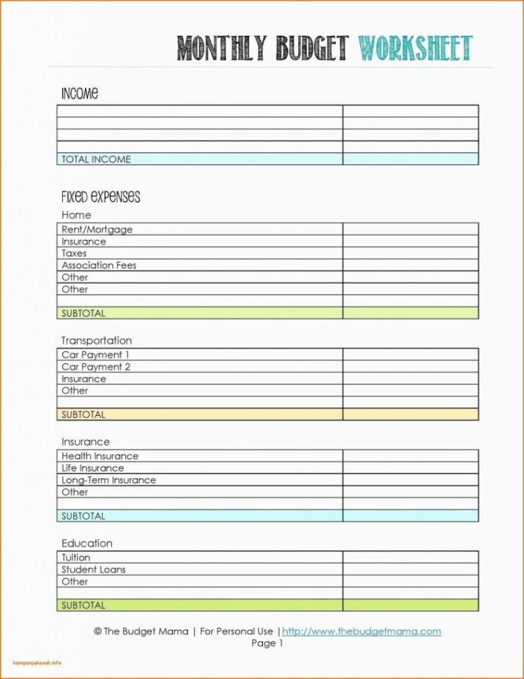 Household Budget Spreadsheet With Regard To Make A Household Budget Spreadsheet Nice Printable Bud Templates Nz