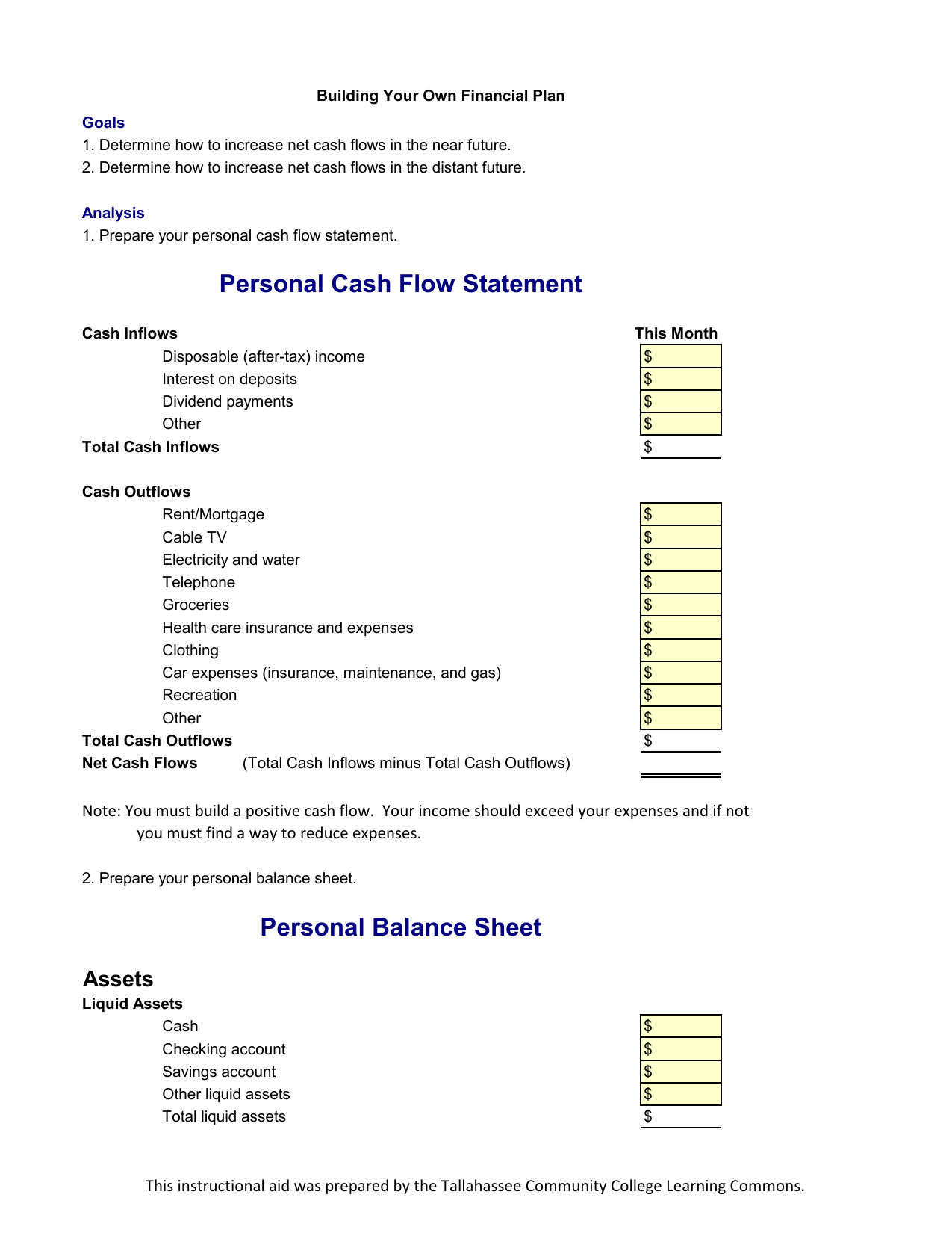 Household Cash Flow Spreadsheet Regarding Download Income Statement And Balance Sheet Template  Excel  Pdf