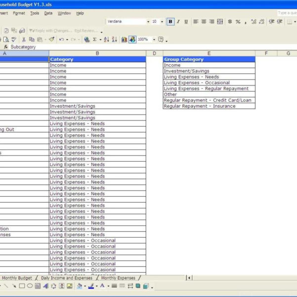 Household Expenditure Spreadsheet Throughout Setup A Spreadsheet For Household Budget As Excel Compare