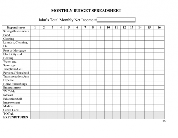 Household Expense Spreadsheet Template Free With Regard To Household Expenses Sheet Solid Graphikworks Co Simple Budget