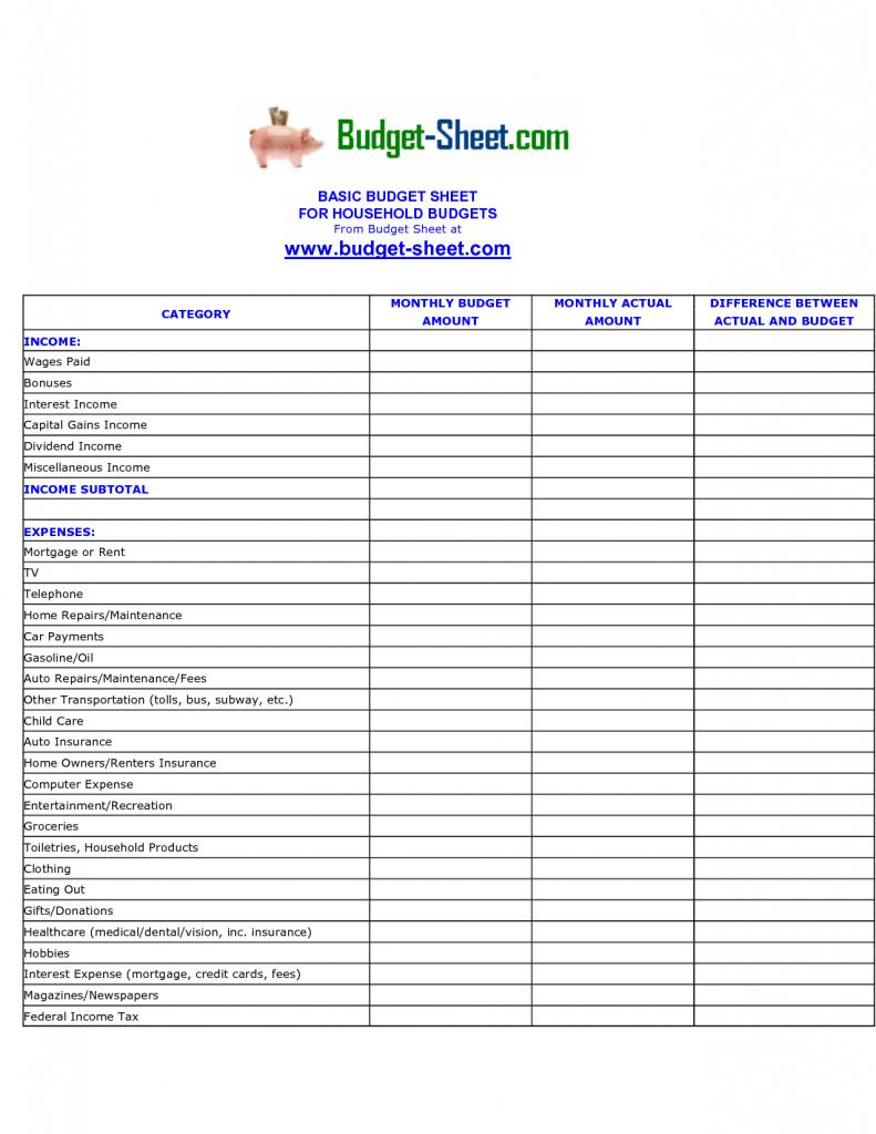 Household Finance Spreadsheet Regarding Expense Sheet Template Free Spreadsheet Report Personal Finance