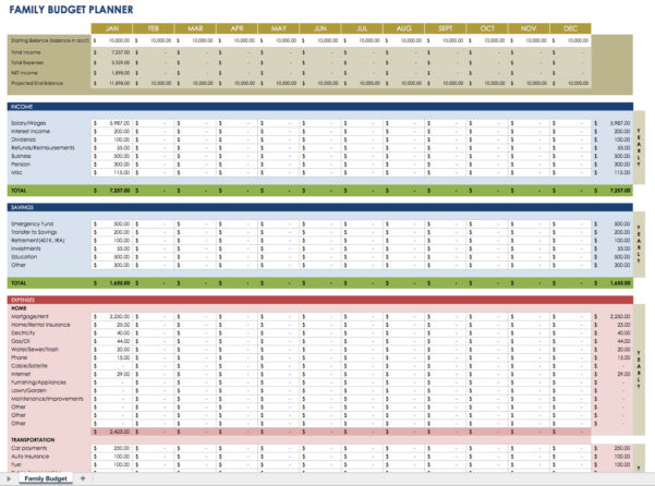 Household Financial Planning Spreadsheet Intended For Financial Planning Spreadsheet As Well Household Budget Expenses