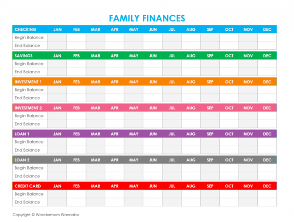 Household Financial Planning Spreadsheet Intended For Free Printable Family Budget Worksheets