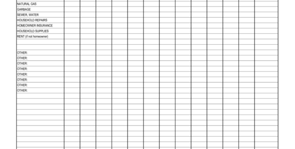 Household Spreadsheet Throughout Monthly Spreadsheets Household Budgets And Bill Tracking Spreadsheet