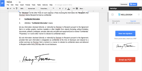 How Do I Add A Signature To An Excel Spreadsheet For Esignatures For Google Docs