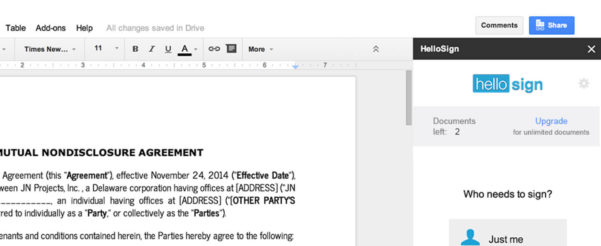 How Do I Add A Signature To An Excel Spreadsheet In Esign Using Hellosign For Google Docs  Hellosign Blog