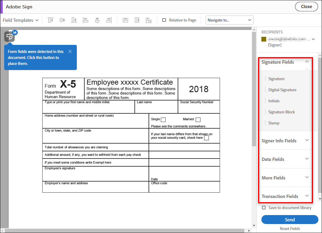 How Do I Add A Signature To An Excel Spreadsheet Intended For Send Pdf Documents For Signature, Adobe Acrobat